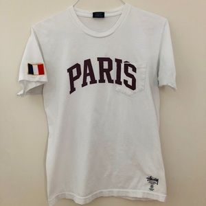 Stussy Paris Pocket Tee with French Flag Patch